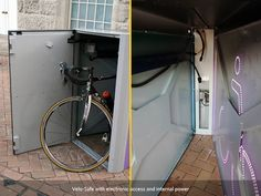 At Cycle-Works, we believe that the future for many sites is electronic access, as it overcomes many of the issues with traditional cycle parking. Bike Locker, Bike Storage Solutions, Range Velo, Build Your Own Shed, Bike Shed, Shed Plans, Lockers, Brick, Home Appliances