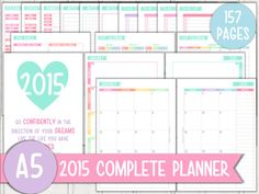 Check out my Etsy shop for pretty pastel planner inserts! listing at https://www.etsy.com/listing/217177531/a5-2015-complete-planner-printable-set