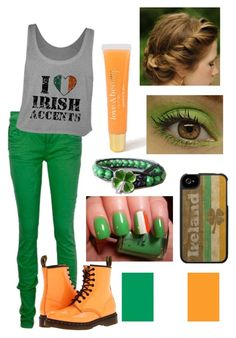Happy St.Patrick's Day!!!!!! :)  by ebgleek on Polyvore featuring Dr. Martens and Forever 21