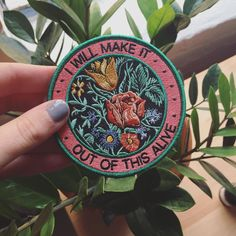 Alive iron-on patch | Stay Home Club