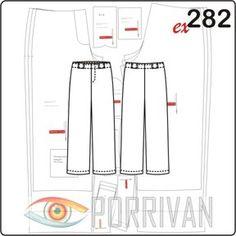 3 выкройки брюк для мальчика имеют одно построение, отличаются карманами и их количеством. Особенность брюк — обтачка верхнего среза. Это редкая деталь в м