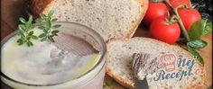 Recept Rychlá domácí játrovka a chléb bez hnětení Hummus, Camembert Cheese, Dairy, Ethnic Recipes, Sugar, Top Recipes, Play Dough, Oven, Brot