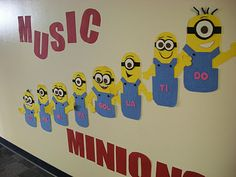 I don't see myself ever teaching music but these minions are CUTE!