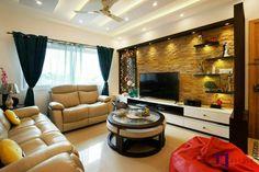 Living Room Partition Design, Best Living Room Design, Living Room Tv Unit Designs, Room Partition Designs, Furniture Design For Hall, Small Apartment Interior, Apartment Living, Tv Unit Interior Design, Living Tv