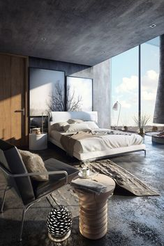 Rustic Bedroom Ideas - All the bedroom design ideas you'll ever require. Find your style and also create your dream bedroom system whatever your budget, design or room dimension. modern 45 Modern Rustic Master Bedroom Decor and Design Idea - Modern Rustic Bedrooms, Rustic Master Bedroom, Modern Bedroom Design, Master Bedroom Design, Dream Bedroom, Home Decor Bedroom, Bedroom Ideas, Bedroom Furniture, Bedroom Designs