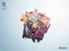 Widest variety, infinite possibility, just like Cubeevo itself. Advertising agency: McCann, Peru. Source: Ads Of The World #2