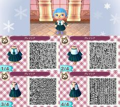 Personal design, feel free to use! animal crossing qr, new leaf, qr Qr Code Animal Crossing, Animal Crossing Qr Codes Clothes, Animal Games, My Animal, Motif Acnl, Ac New Leaf, Motifs Animal, Happy Home Designer, Baby Puppies