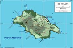 Map of Pitcairn island
