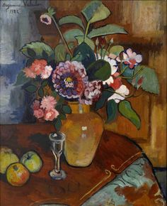 huariqueje: Still Life - Suzanne Valadon , 1922. French,1865-1938 oil on canvas, 18 3/8 x 15 1/8 in. 46.67 x 38.42 cm.
