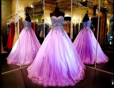 The Perfect Prom Dress Romantic Purple Ball Gown Prom Dresses 2015 Evening Dresses Fancy Dresses With Beading Corset Prom Dresses From Bridalgowns2014, $169.64  Dhgate.Com