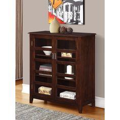 WYNDENHALL Portland Medium Storage Cabinet in Espresso Brown | Overstock.com Shopping - The Best Deals on Media/Bookshelves