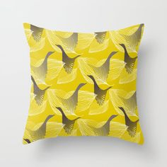 Lovely Birds and Leaves Throw Pillow by pivivikstrm Couch Pillows, Down Pillows, Floor Pillows, Pillow Sale, Designer Throw Pillows, Pillow Design, Pillow Inserts, Framed Art Prints, Wall Tapestry