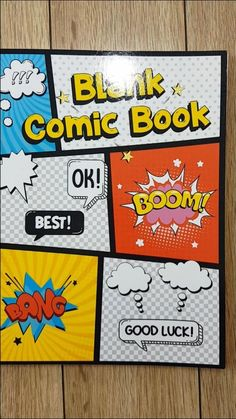 A blank comic book to create great stories for kids and adults. 120 pages of gorgeous and unique templates designed to meet the highest demands of both small and large artists. The template has speech bubbles ready to help children and beginners draw. In addition, the template has graphic inserts that are ideal for drawing comics about the subject of superheroes. Blank Comic Book, Comic Books, Stories For Kids, Great Stories, Comic Book Drawing, Drawing For Beginners, Comic Panels, Draw Your, Bubbles