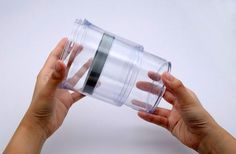 Botto Airtight Telescopic jar  This little jar is really smart. It can Not only saves the home storage space, but also can Keep the food fresh for a long time.  Botto is a Airtight telescopic jar that adjusts its size by the number of food. Its capacity can be adjusted from a maximum of 32 Ounces (about 1 liters) to a minimum of 16 ounces (about 500 milliliters).   #Botto
