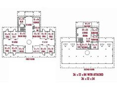 good barn plan with living quarters on the second floor: