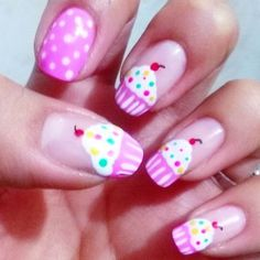 #CupkakeNails #MuffinNails #PinkNails