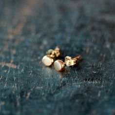 14k Gold Organic Dot Stud Earrings 4mm Recycled Eco Friendly Ethical Sweet Everyday Posts Handmade Jewelry by ShopClementine on Etsy https://www.etsy.com/listing/121763266/14k-gold-organic-dot-stud-earrings-4mm