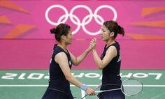 Badminton women's doubles players - London 2012