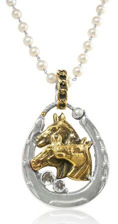 Caracol - Inspired Jewelry and Handbags - Mars and Valentine Two Toned Horses   Horseshoe   Topaz Pendant, $299.00 (http://www.caracolsilver.com/mars-and-valentine-two-toned-horses-horseshoe-topaz-pendant/)