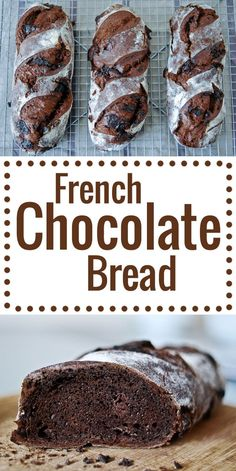 French Chocolate Bread! Made with a sourdough starter. Detailed step-by-step recipe suitable for baking rookies! | from http://chocolateandzucchini.com