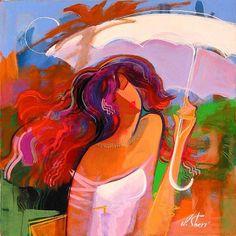Irene Sheri Under Umbrella Painting
