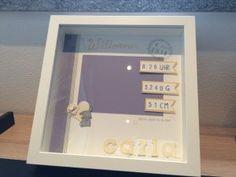 Newborn Baby Rahmen - personalisiertes Geschenk zur Geburt Foto