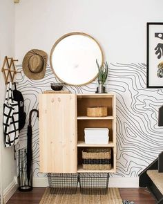 IKEA is a perhaps the most famous furniture brand that provides basic and neutral furniture designs. Today we'll take a look at some ways to hack IKEA furniture and items for your entryway, get inspired! Diy Projects Ikea, Home Projects, Diy Projects Apartment, Ikea Storage, Storage Hacks, Storage Units, Furniture Storage, Hallway Storage, Door Storage