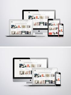 Apple Responsive Screen MockUps - two different PSD Mockups by Vinay Mittal | GraphicBurger