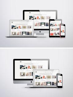 Apple Responsive Screen MockUps - two different PSD Mockups by Vinay Mittal Web Ui Design, Tool Design, Graphic Design, Display Mockup, Design Poster, Photoshop Illustrator, Showcase Design, Design Tutorials, Design Ideas