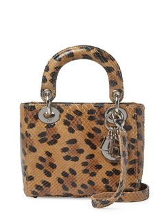 25508e27844a Limited Edition Leopard Python Lady Dior Mini by Christian Dior at Gilt
