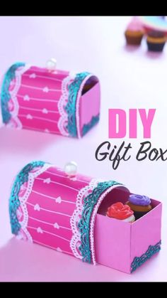 Cool Paper Crafts, Paper Crafts Origami, Diy Crafts For Gifts, Diy Craft Projects, Creative Crafts, Fun Crafts, Diy For Kids, Crafts For Kids, Diy Gift Box