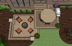 Backyard Patio Designs | 350-450 sq. ft Patio Plans