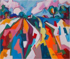 Arie Zuidersma (1925-2014) wordt wel de laatste 'oud Ploeger' genoemd. In 1968 werd hij voor het eerst uitgenodigd als gast mee te doen aan de exposities van De Ploeg. Deze kunstenaarsgroep, waarvan het werk doorgaans wordt aangeduid als het Groningse Expressionisme, werd opgericht in 1918 in Groningen. Zuidersma is gefascineerd door het Groningse landschap, wat dan ook een geliefd onderwerp is voor zijn schilderijen.
