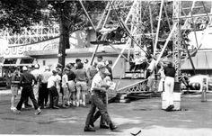 Line at the ferris wheel. Mountain Park, Holyoke, MA.