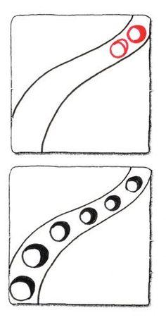 Portholes Zentangle pattern