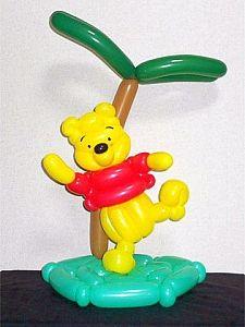 Disney Party Ideas: Winnie the pooh party Balloon Show, Balloon Face, Balloon Toys, Balloon Animals, Balloon Flowers, Balloon Garland, Balloon Centerpieces, Balloon Decorations, Ballon Crafts