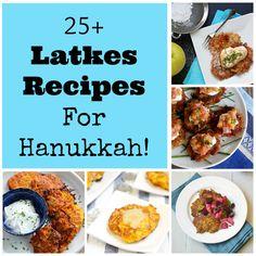 25 Latkes Recipes for Hanukkah! Hanukkah Food, Hannukah, Hanukkah Recipes, Happy Hanukkah, Hanukkah Crafts, Kosher Recipes, Cooking Recipes, Holiday Recipes, Great Recipes