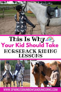 Horse riding is a great activity for kids. Find out 50 benefits that  horseback riding can give to your child. There are mental and physical  benefits to riding horses, as well as improving character, building life  skills, and more!  #benefitsofhorseriding #horseridingforkids  #kidsridinghorses #horselovingkids #benefitsofhorseridingforkids  #sparklesrainbowsandunicorns Horse Riding For Kids, Horse Riding Tips, Horseback Riding Lessons, Horse Facts, Horse World, Country Crafts, Horse Care, Horse Stuff, Life Skills