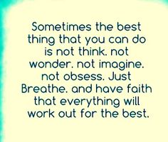 Sometimes faith is all you need