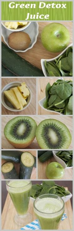 green juice to help detox-apples cucumbers kiwi pineapple and spinach - Easy Lunches Stock Image by CrisC