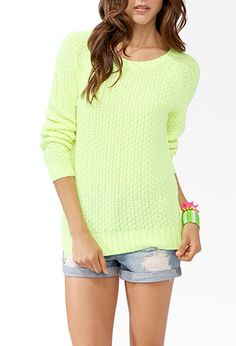Textured Longline Sweater | FOREVER21 - 2040326664