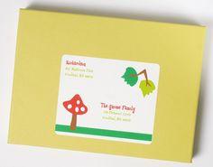 Woodland Invitation Address Label by whenandwhereinvites on Etsy, $4.50