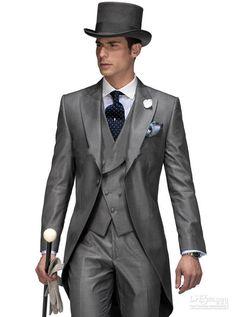 New Arrivalc Morning Stylish Peak Lapel Grey Tailcoat Groom Tuxedos Haut Men'S Wedding Dress Prom ClothingJacket+Pants+Tie+Vest8162 1920s Mens Clothes Best Wedding Tuxedos From Good Happy, $70.36| Dhgate.Com
