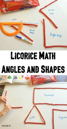 Licorice math - angles, shapes and patterns with printable set