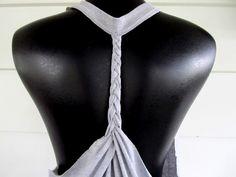 DIY braided t-shirt re-do