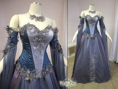 Medieval Wedding Dress LOTR Renaissance Fantasy Gown LARP Lavender Fairy Gown | eBay