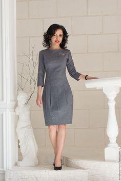 """Платье """"Серое"""" – купить в интернет-магазине на Ярмарке Мастеров с доставкой"""