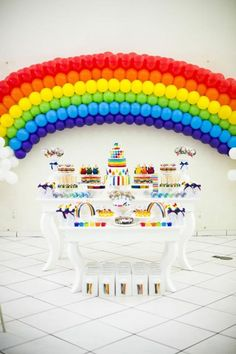I must try and make this rainbow out of balloons! Maybe on a slightly smaller scale though. Wonder how I am going to attach it to the wall?