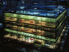 "Toyo Ito designed the Sendai Mediatheque located in Sendai Japan, with the concepts of Organic Architecture in mind. Toyo Ito's designs also incorporate his idea of ,"" a piece of clothing to wrap… Organic Architecture, Amazing Architecture, Contemporary Architecture, Modern Architecture, Toyo Ito, Sendai, Miyagi, Prix Pritzker, Lecture Theatre"