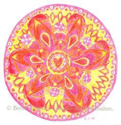 "Einladungskarte Grußkarte A6 Mandala ""Herzenslicht"", Bente Stephan, Das Mandala-Projekt, www.dasmandalaprojekt.de.tl"